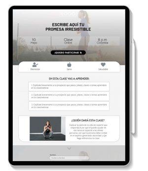 plantilla wordpress Fitness