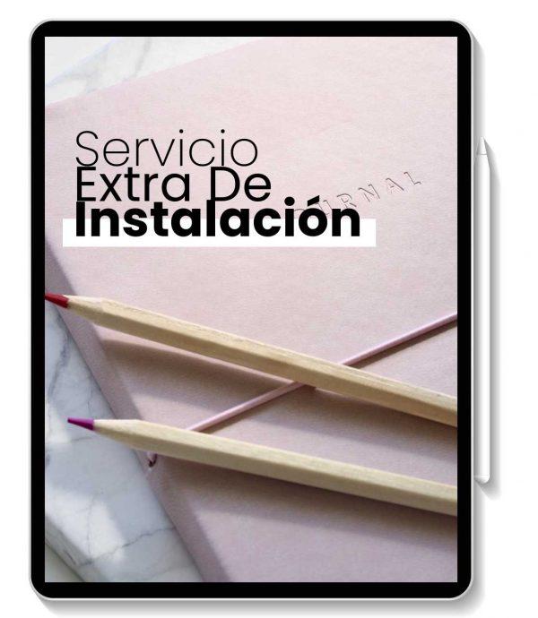 servicio extra de instalacion